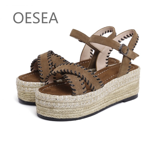 51a85b1ad40 34-43 HOT Sandals 2017 fashionable comfortable cattle suede breathable  sandals