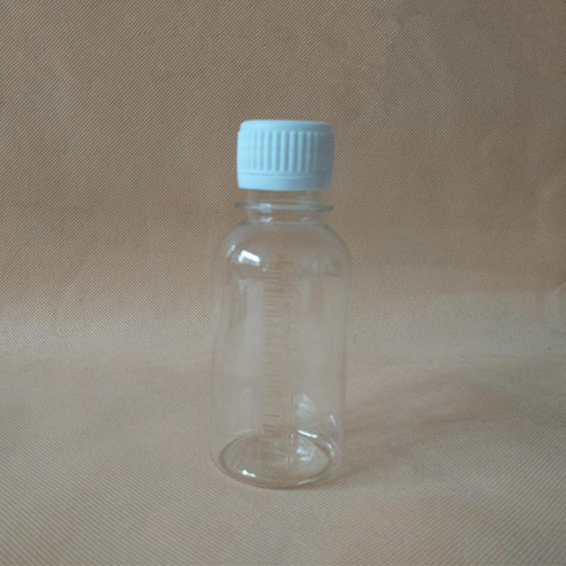 100ml Transparent PET plastic bottle wholesale sample bottle liquid subpackage bottle