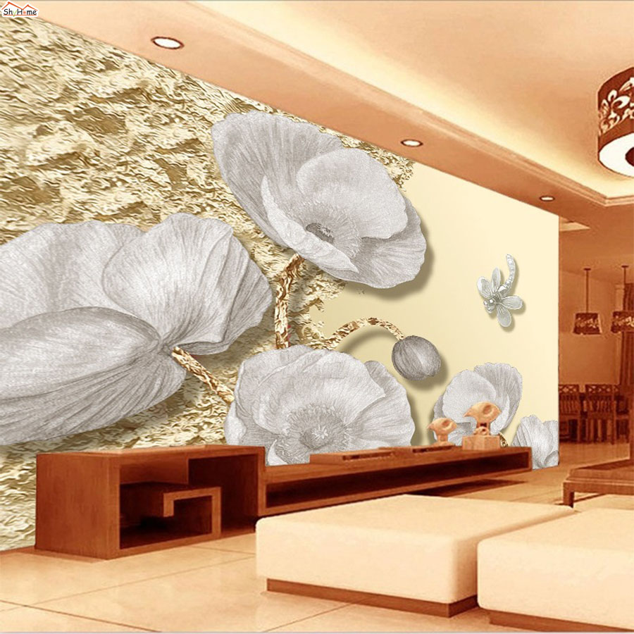 Elegant Grey White Rose Strip 3D Room Embossed Wallpaper for 3 d Wall Paper Background Modern Natural Covering Murals Rolls Art 1 design laser cut white elegant pattern west cowboy style vintage wedding invitations card kit blank paper printing invitation