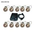 50pcs crystal keyfobs +1 Reader 125Khz RFID Proximity tag Keyfob token Access Control Rfid keyfob crystal