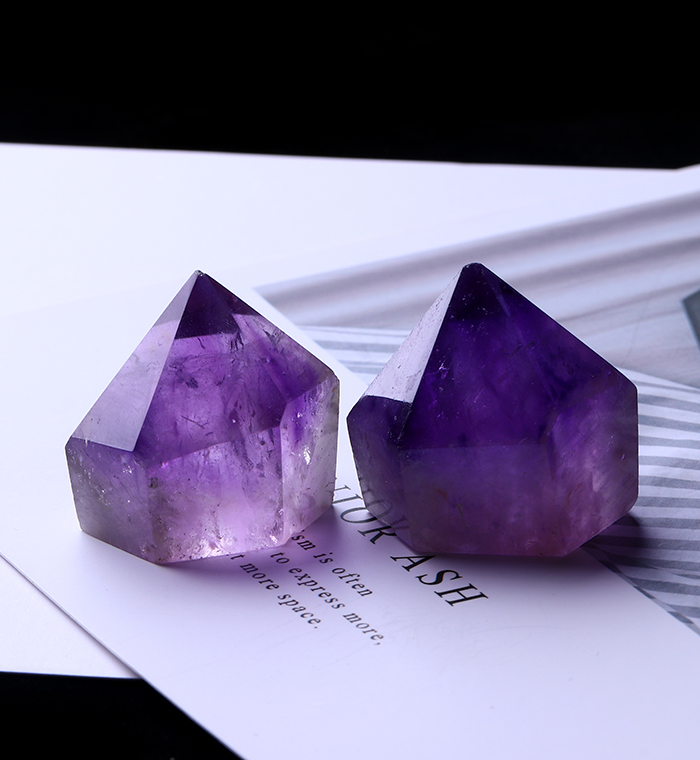 1PC Natural Amethyst Wand Quartz Crystal Repair Crystal Stone accessories Home Decor 15