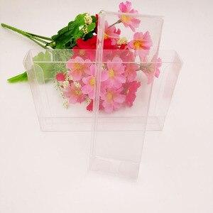 Image 4 - 50 pcs 2 xWxH Caixa De Pvc Transparente Caixas De Plástico Transparente De Armazenamento de Jóias Caixa de Presente de Casamento/Natal/Doces/ partido Para a Caixa de Embalagem do Presente