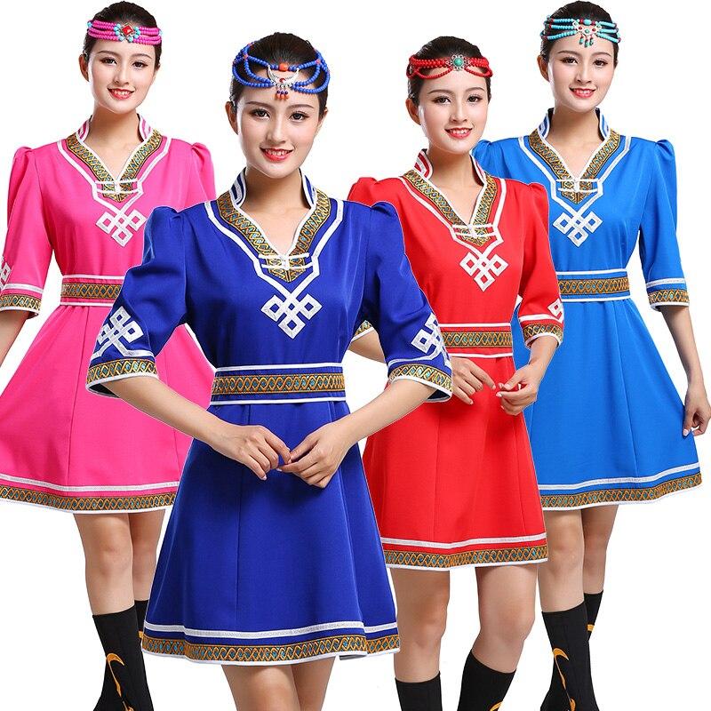 Costume de style tibétain mongol vêtements de danse cosplay pour femmes robe de minorité adulte vêtements de performance de scène