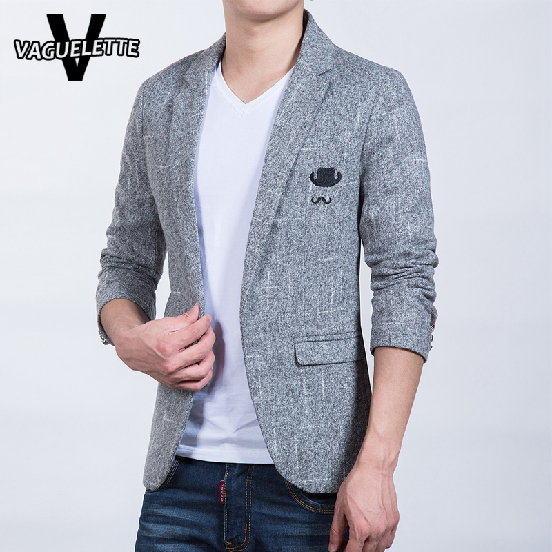 Tweed Plus Size Blazer Men Slim Fit Knitted Korean Style Single Button  Casual Men Clothes Fashion Veste Blazer Homme M-5XL 4a6dbeaa94d