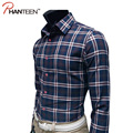 Classic Plaid High Quality Man Shirts Business Casual Slim Fitness Dress Shirts Long Sleeve Comfortable Fashion Men Clothing