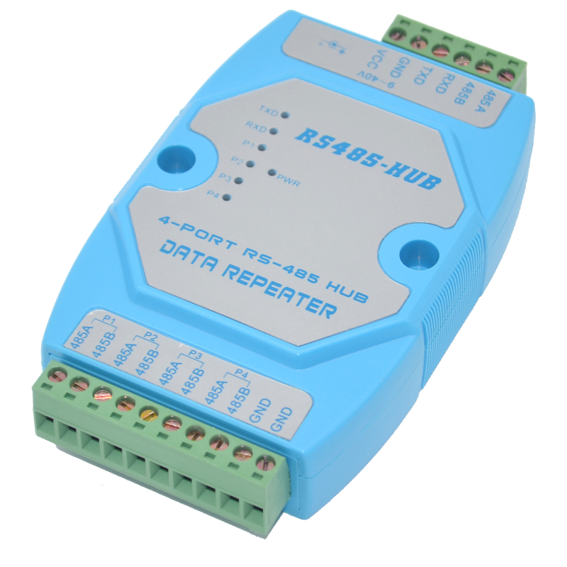 Isolated active RS232 to 4 way RS485 converter 232 to 485 industrial lightning protection rail din optical isolation rs485 hub 2 hub 485 switch 232 converter optical isolation industrial grade dt 9022i