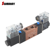 SUMRAY Pneumatic Flow Adjust Solenoid Valve 4V220-08/4V320-10/4V420-15 5 Way 2 Position Electric Magnetic AC110/220V