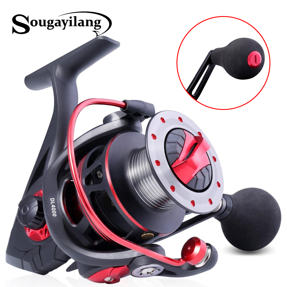 Sougayilang Carp Fishing Reels 14BB Right/Left Hand Fishing Reel Saltwater Freshwater Spinning Reel Max Drag 14.5kg pesca-in Fishing Reels from Sports & Entertainment    1