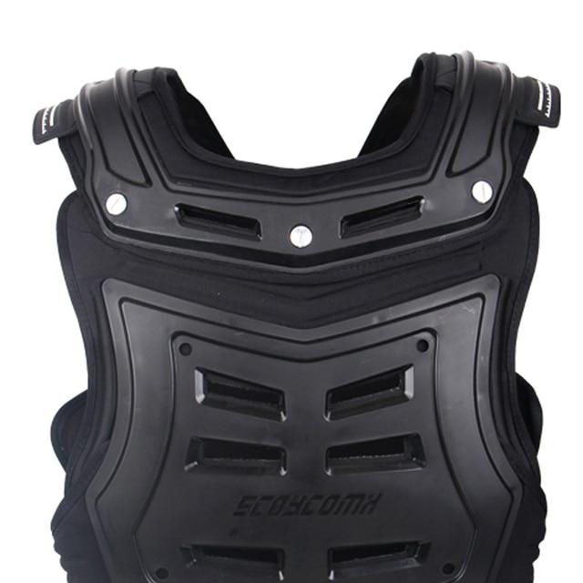 SCOYCO Motorcycles Motocross Chest Back Protector Armadura Vest Racing Protective Body Guard MX Armor Black A-07 3