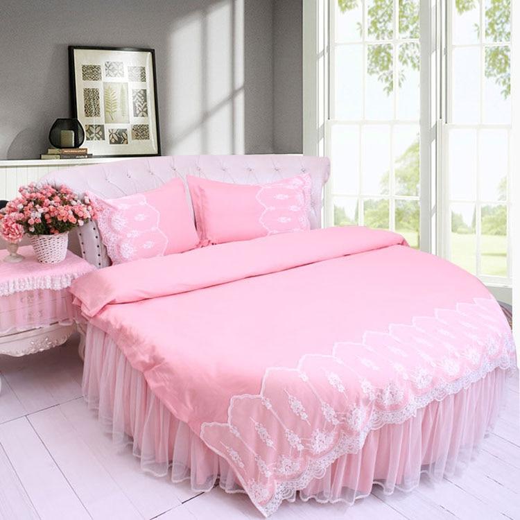 aliexpress  buy round bed jacquard satin lace pink