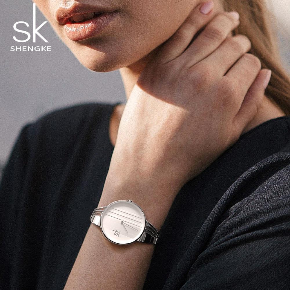 Shengke Creative Quartz Watch Women Luxury Gold Bracelet Watches Ladies Clock Watches 2018 SK Reloj Mujer Christmas Gift #K0062 4