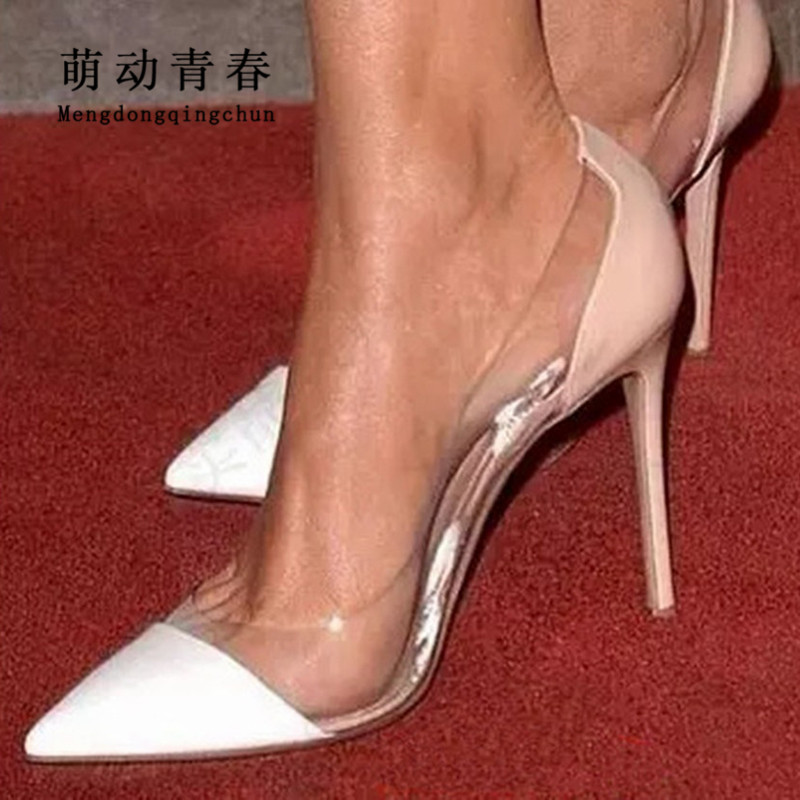 Plus Size Fashion Women Pumps Transparent Wedding Shoes Thin High Heels Office OL Shoes Casual Pointed Toe Party Evening ShoesPlus Size Fashion Women Pumps Transparent Wedding Shoes Thin High Heels Office OL Shoes Casual Pointed Toe Party Evening Shoes