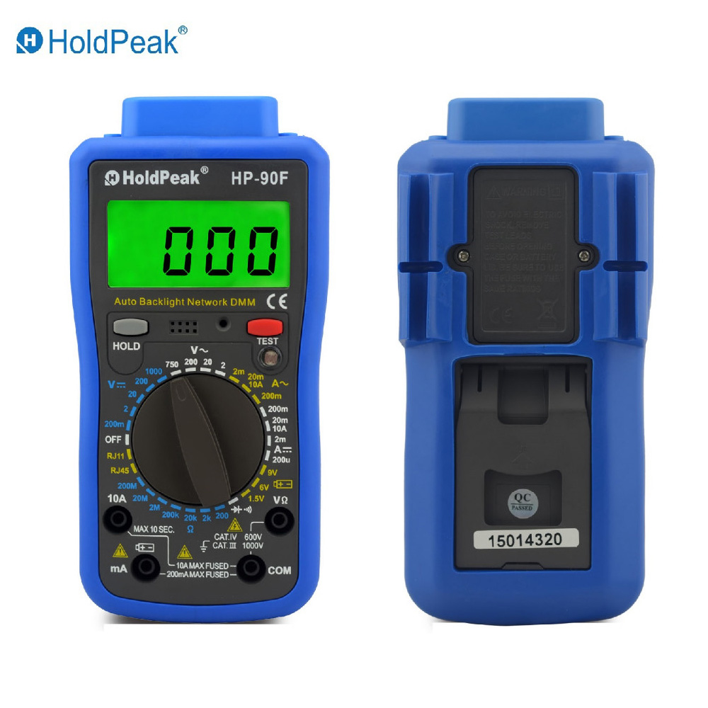 Multimetro Digital HoldPeak HP-90F Digital Network Multimeter Meter with Telephone Line and Network Cable Test цена