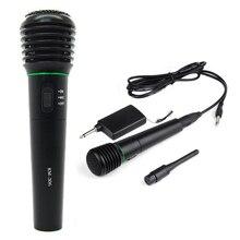 Microphone de poche filaire et sans fil 2 en 1 récepteur de Microphone sans fil et filaire unidirectionnel noir
