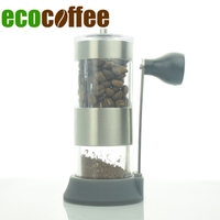 New Arrival Mini Portable Manual Coffee Grinder with Spoon & Brush Kitchen Use Coffee Bean Mill Barista Maker