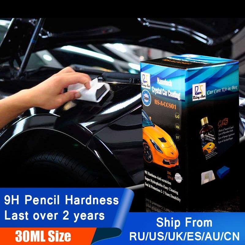 Rising Star RS-A-CCS01 Flüssigkeit Glas 9 H Nano Hydrophoben Keramik Beschichtung Auto Pflege Wachs Kristall Auto Beschichtung 30 ml Kit für Demo Test