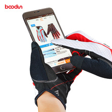 BOODUN Summer Breathable Soft Cycling Gloves Full Finger Touch Screen  Bike Gloves Sport  MTB Road  Bicycle Glove for Men Woman недорого