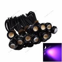 10X 23MM 9W LED Eagle Eye Pink Purple Daytime Running DRL Light Lamp Car Motor 12V