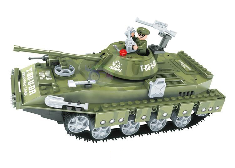 Model building kits compatible with font b lego b font military tank 029 3D blocks Educational