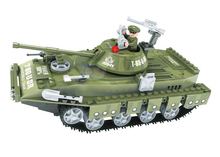 Model building kits compatible with lego military tank 029 3D blocks Educational model building toys hobbies