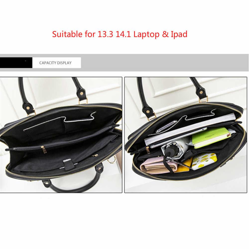 ファッションラップトップバッグ 13 14 インチノートブックのショルダーバッグメッセンジャーバッグコンピュータスリーブクロスボディバッグ女性のハンドバッグビジネスブリーフケース