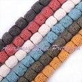 """10x14mm forma coluna lava rock gem stone beads strand 14.5 """"para diy colar bracelat jóias fazendo, Frete Grátis por atacado"""