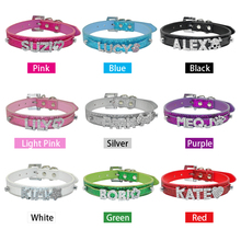 Personalised Rhinestone Dog Collars With Free Charm