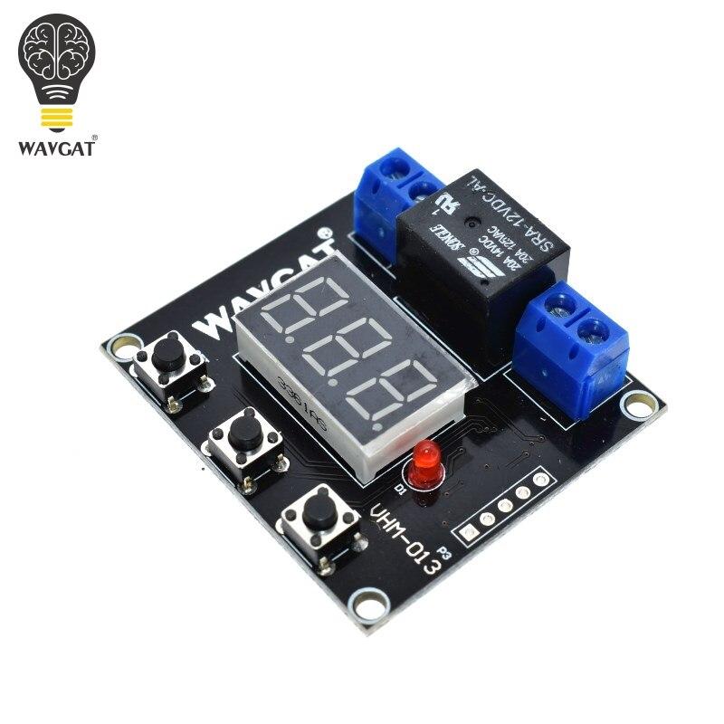 WAVGAT oficial VHM-013 módulo temporizador abajo cuenta atrás interruptor 0-999 minutos un botón de tiempo