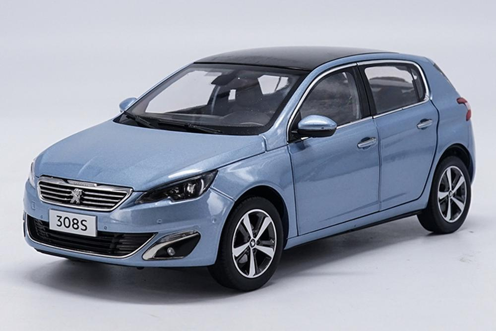 1/18 Scale Peugeot 308S 2015 Blue Diecast Car Model Toy Collection