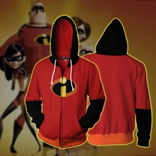The Incredibles 2 Bob Parr Mr. Incredible Sweatshirts Hoodies Movie Cosplay Costume Men Casual Hooded Clothing