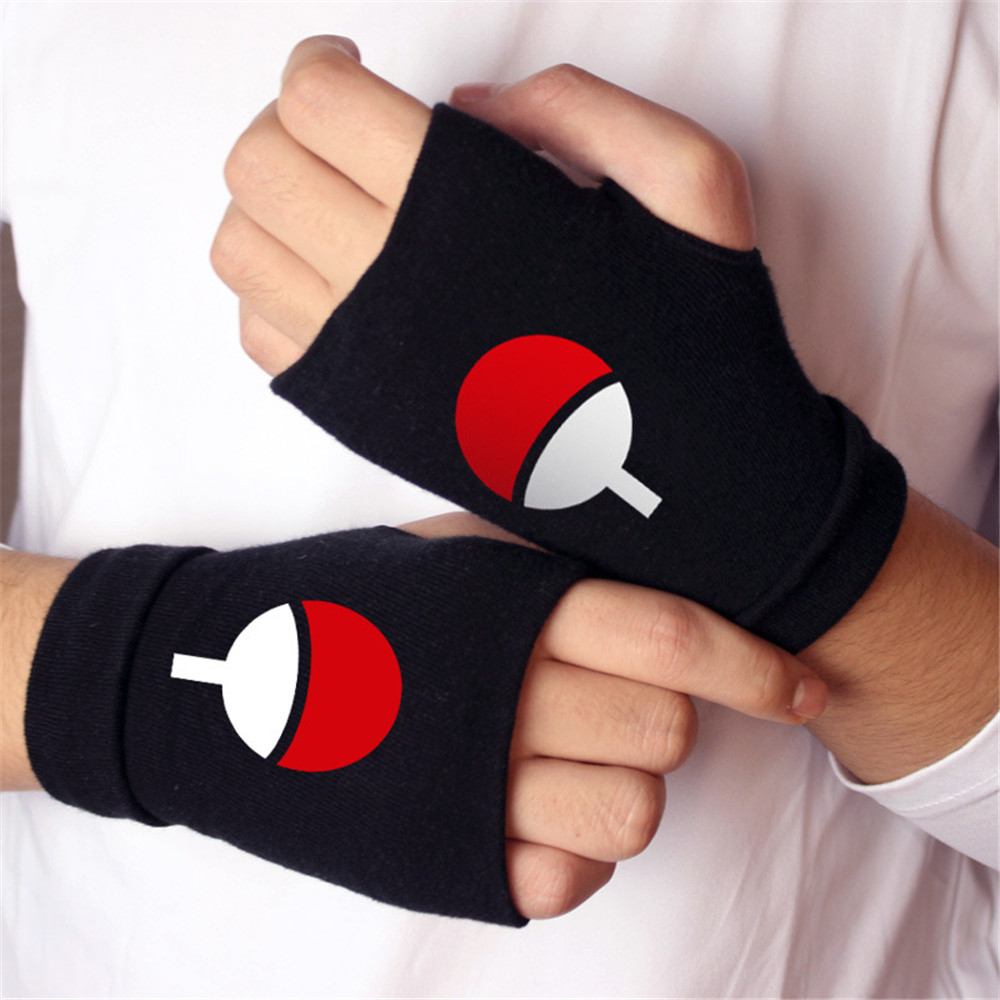 Men Women Fashion Gloves Anime One Piece Naruto Fate/stay night-Finger-less Cotton Luminous Glove Cosplay Mitten Xms
