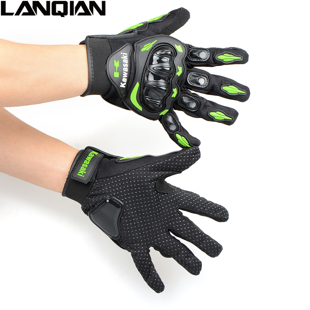 Motorcycle gloves xl - Man Woman Motorcycle Gloves Motorbike Moto Luva Motocicleta Motocross Guantes Gloves For Kawasaki Green Gloves Full