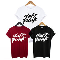 DAFT PUNK PRINTED MENS T SHIRT COOL ELECTRONIC HOUSE MUSIC ALIVE DANCE DJ TEE COTTON SUMMER