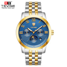 TEVISE Mens Automatic Watches Stainless