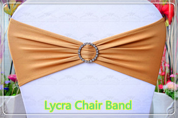 1/2--With Round Diamond Buckle--Spandex/Lycra/Expand Chair Bands/Chair cover sashes For Wedding Party Banquet Decorations