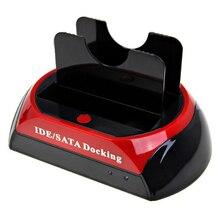 "Docking station Dual HDD docking station hot plug a backup key – Combatible with USB 2.0, IDE / SATA 2.5 ""/ 3.5"""