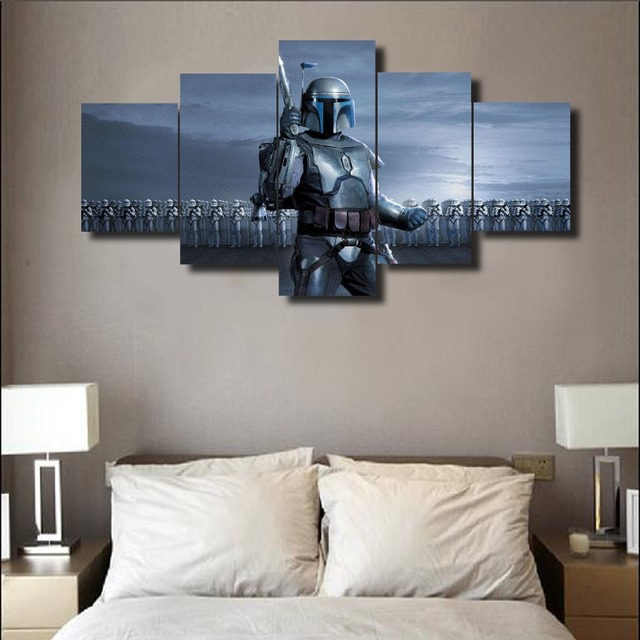 Star Wars Jango Fett Canvas Painting