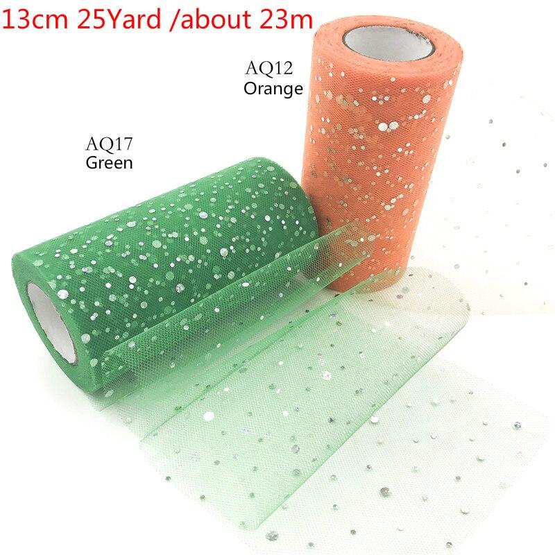 Новый блеск блесток Тюль рулон 13 см 25 ярдов рулон ткани пачка подарок обёрточная бумага новый год Рождество Вечеринка День Рожде