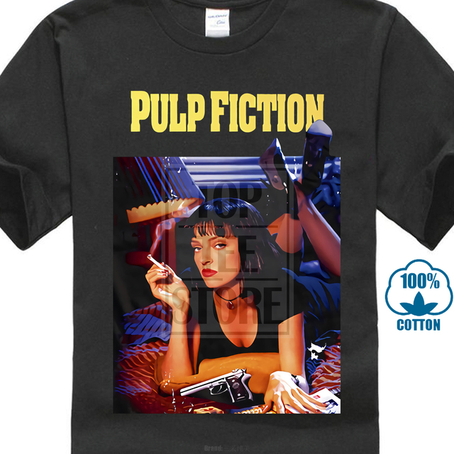 Pulp Fiction V1 Q Tarantino Movie Poster 1994 T Shirt All Sizes S To 4Xl