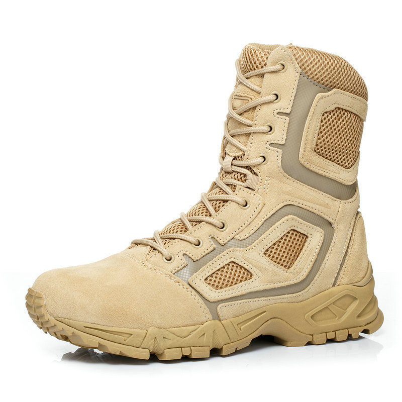 NEW Outdoor Genuine Leather lace-Up Air combat boots High Head layer cowhide tactical Camping Desert High boots Hiking Shoes p80 panasonic super high cost complete air cutter torches torch head body straigh machine arc starting 12foot