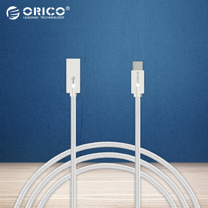 ORICO HCU Type-C A to C USB Data Charging Cable for Xiaomi 4C Pro5-Gray/Silver/Golden/Pink