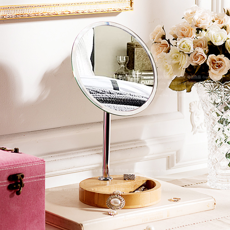 Odd ranks yield desktop vanity mirror surface stainless steel round Mirror Mirror child wood base декор lord vanity quinta mirabilia grigio 20x56