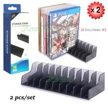 2 шт./упак. PS4 тонкий поляризационный фильтр Pro игровых аксессуаров компакт-дисков дисковая подставка держатель для хранения PS 4 держатель дисков для sony Playstation 4 игровая стойка для дисков