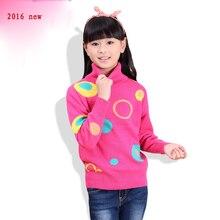 2016 детская одежда, детский свитер, свитер, большой детский шерстяной свитер с длинными рукавами утолщение