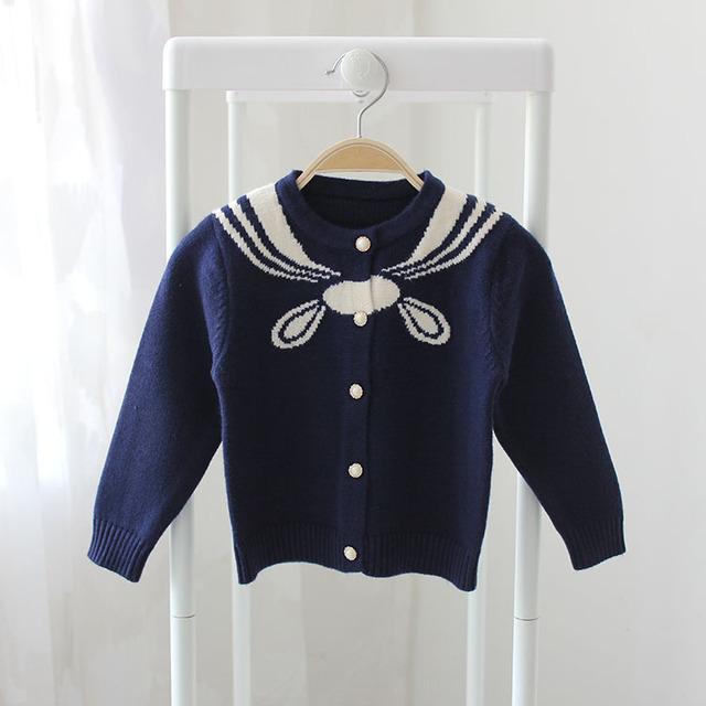 2017 primavera y otoño nuevas niñas cardigan bebé suéter suéter de los niños