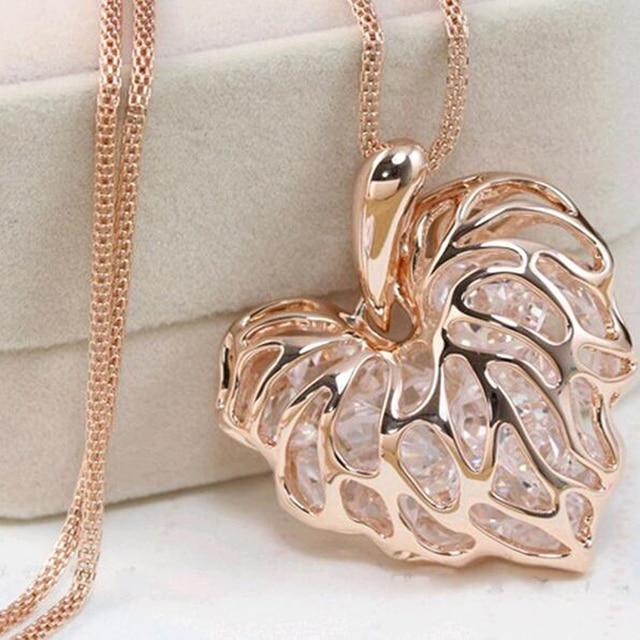 FAMSHIN Recently, a woman full of gold silver heart-shaped crystal rhinestone pe