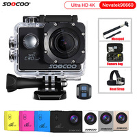 Action Camera Original SOOCOO C30 / C30R Remote HD 4K Wifi 1080P 60fps 2.0 LCD 170D Sport Go Waterproof Pro Camera