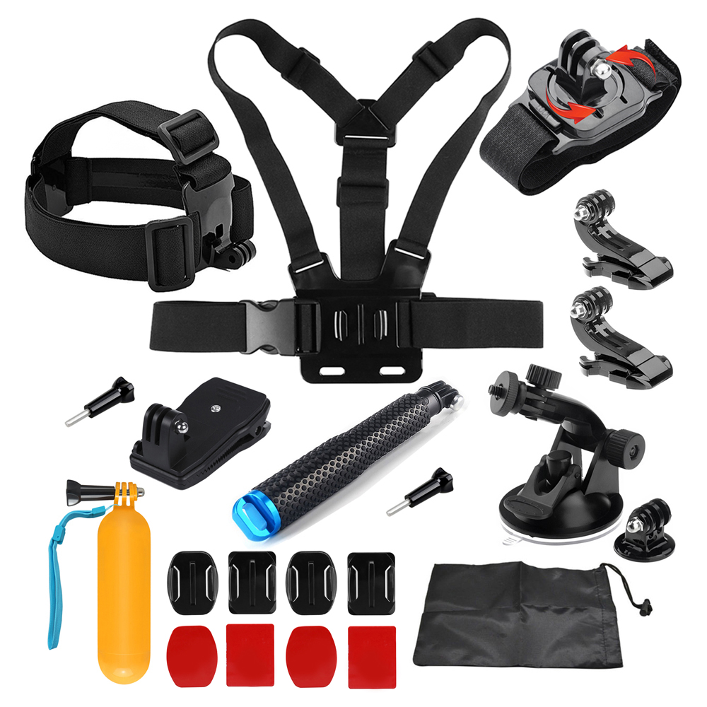SHOOT Universal Accessories for GoPro Hero 7 6 5 4 SJCAM Xiaomi Yi 4K Eken H9 Tripod Holder Monopod Strap Mount Go Pro Accessory shoot jaws flex clamp mount for gopro hero 7 6 5 xiaomi yi 4k sjcam eken h9r with bucket tripod holder for go pro hero accessory