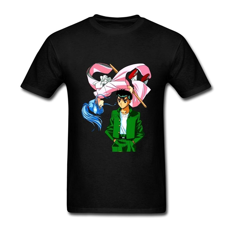 100% Kwaliteit Heren Persoonlijkheid T-shirt Anime Yu Yu Hakusho Art T-shirt Grappige T-shirt Vrouwen T-shirt