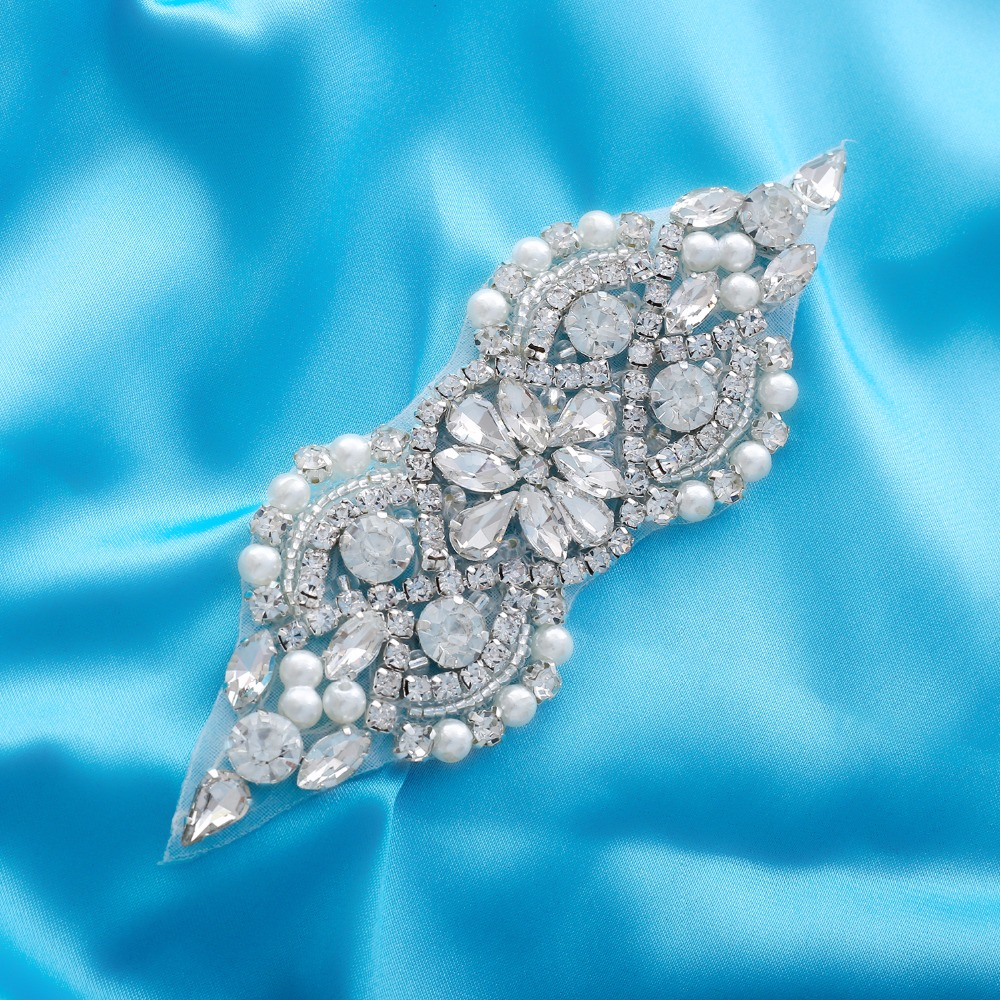 Crystal Wedding Belt Pearl Bridal Belt Rhinestones Sash For Bridal Accessories Silver Gold and Rose Gold